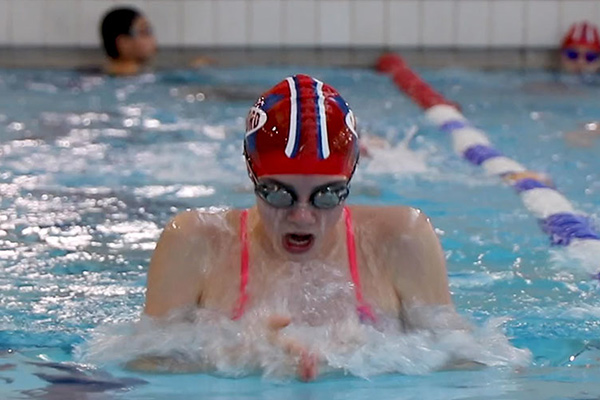 Jess swimming Breaststroke