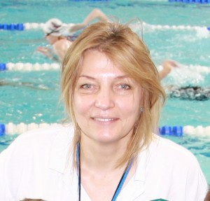 Picture of Zofia Kozien, coach, at training